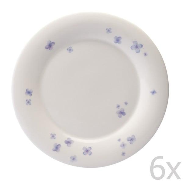 Zestaw 6 talerzy z porcelany angielskiej Petal, 27 cm