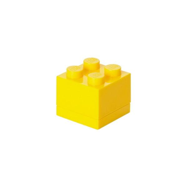 Żółty pojemnik LEGO® Mini Box