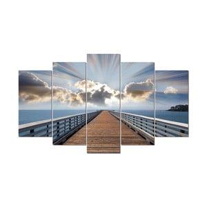 5-częściowy obraz Paradis, 60x100 cm