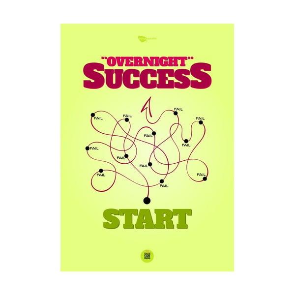 Plakat Overnight success, 100x70 cm