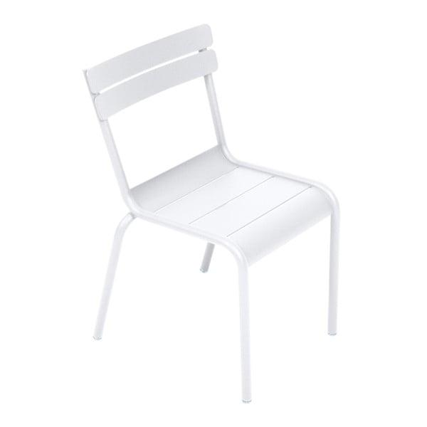 Białe krzesło dziecięce Fermob Luxembourg