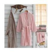 Zestaw 2 bawełnianych szlafroków i 4 ręczników Sharon