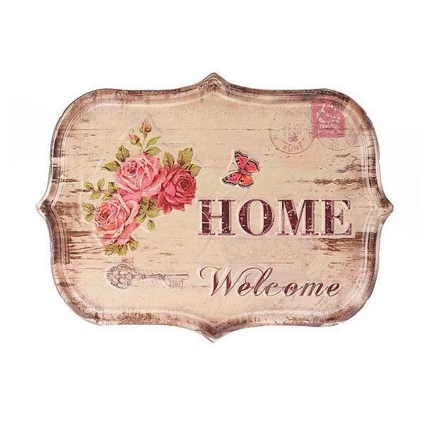 Tabliczka naścienna Home, 34x25 cm