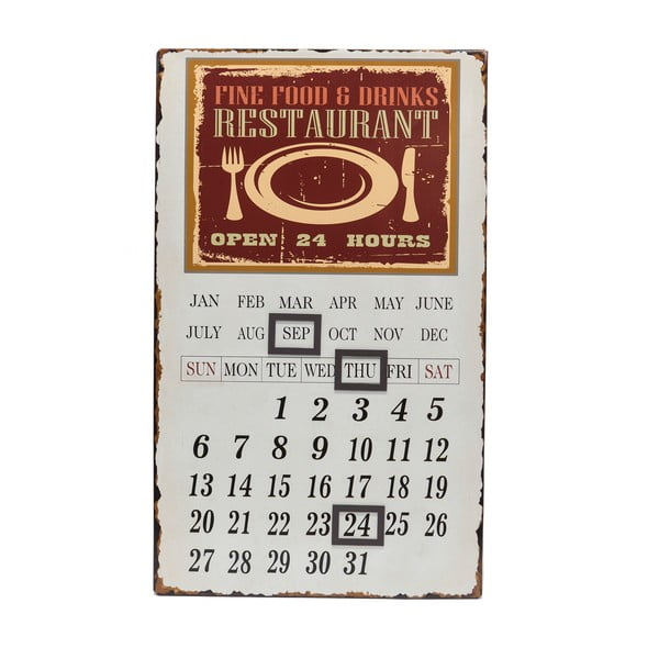 Metalowy kalendarz Calamita