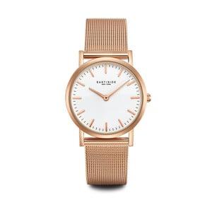 Zegarek damski w kolorze różowego złota z białym cyferblatem Eastside East Village