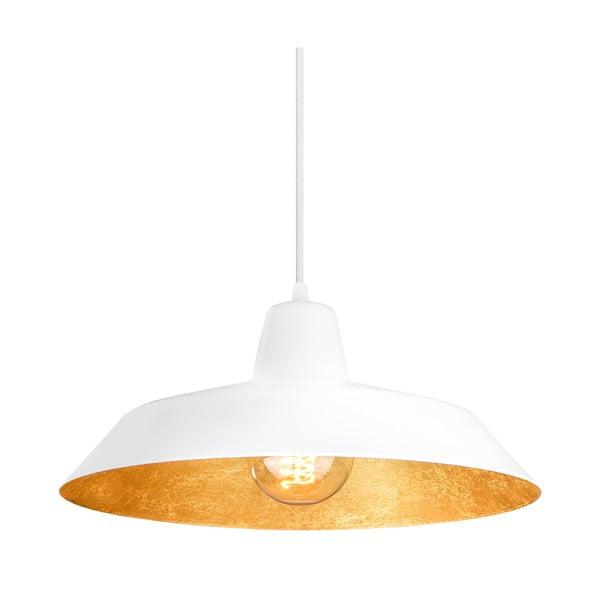 Biało-złota lampa wisząca Bulb Attack Cinco