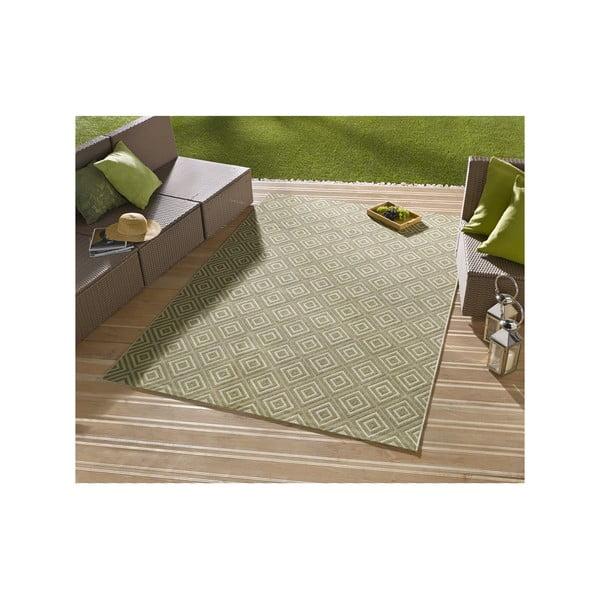 Dywan nadający się na zewnątrz Karo 200x290 cm, zielony
