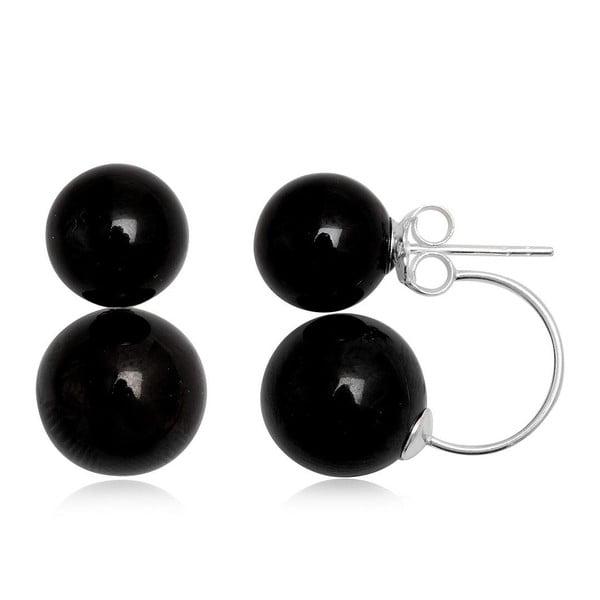 Kolczyki Two Pearls Black