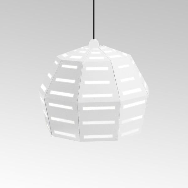 Kartonowa lampa Uno Fantasia D White, z czarnym kablem