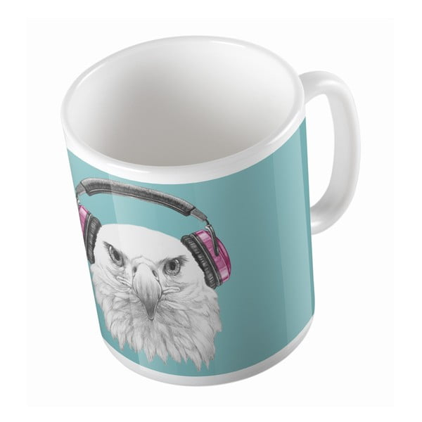 Ceramiczny kubek Eagle With Headphones, 330 ml