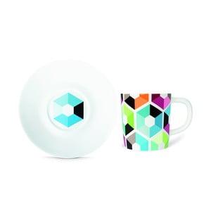 Filiżanka na espresso ze spodkiem Remember Hexagon