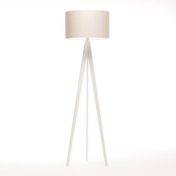 Biała lampa stojąca 4room Artist, biała lakierowana brzoza, 150 cm