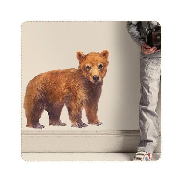 Naklejka wielokrotnego użytku Bear, 50x46 cm