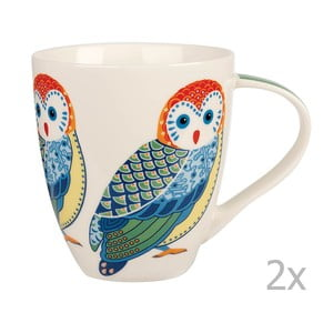 Zestaw 2 kubków Churchill China Birds Crush, 500 ml