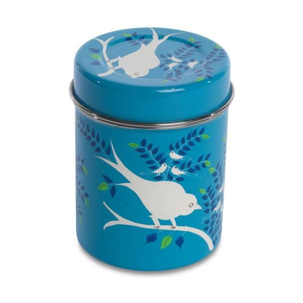 Pojemnik Eva Hand Painted Tea Tin, jasnoniebieski