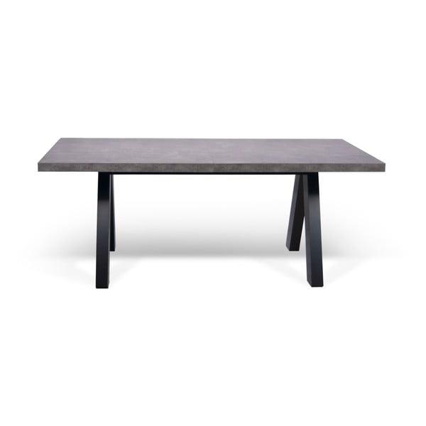 Szary rozkładany stół do jadalni TemaHome Apex