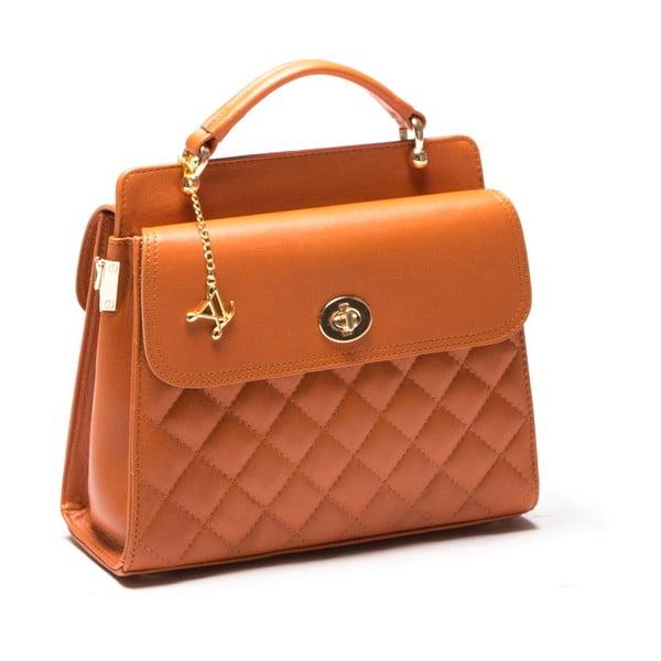 Skórzana torebka Luisa Vanini 2069 Cognac