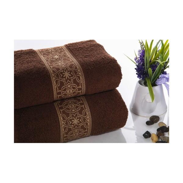 Zestaw 2 ręczników Mosaic V2, 50x90 cm + 70x140 cm