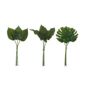 Komplet 3 liści dekoracyjnych J-Line Philodendron