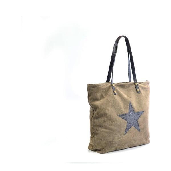 Skórzana torebka Sharon, beżowa