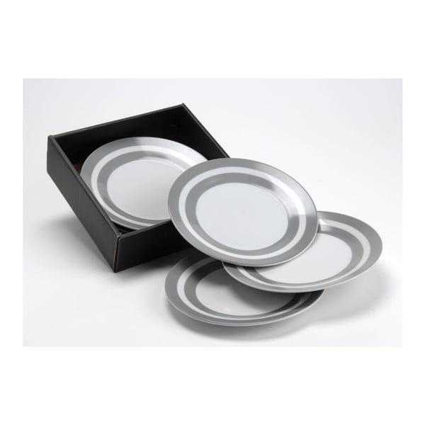 Zestaw talerzyków deserowych Grey Stripe, 8 cm, 6 szt.