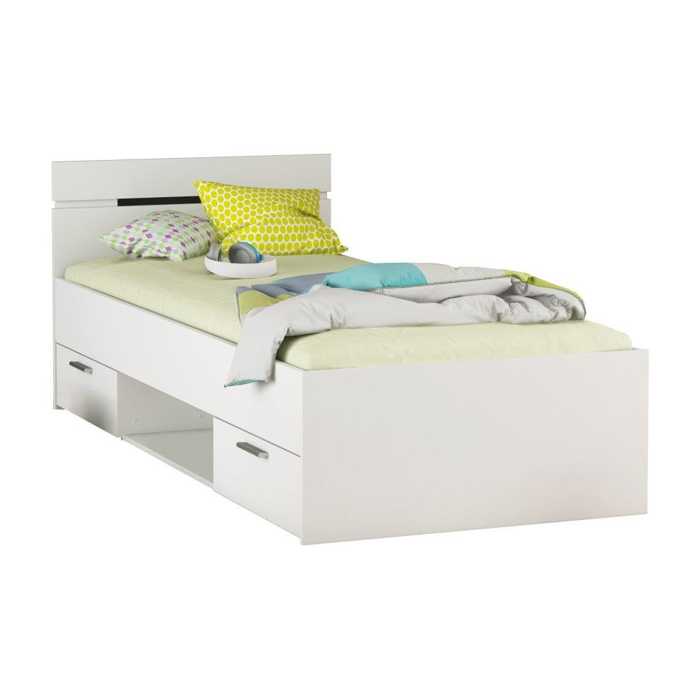 Białe łóżko Jednoosobowe 13casa Smeraldo 90 X 200 Cm Bonami
