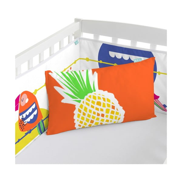 Ochraniacz do łóżeczka Pretty Parrots, 70x70x70 cm