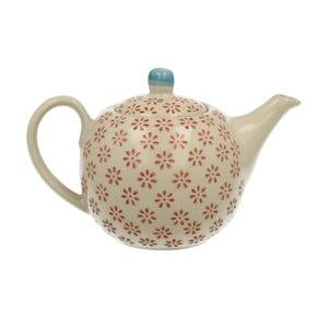 Dzbanek porcelanowy do herbaty z metalowym sitkiem Duo Gift Hottie, 380 ml