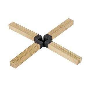 Czarna podkładka pod garnek z bambusa Wenko Cross