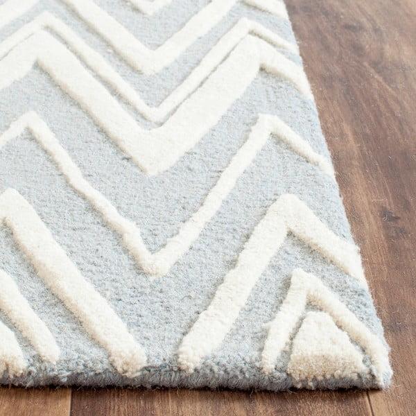 Wełniany dywan Luca Blue, 91x152 cm