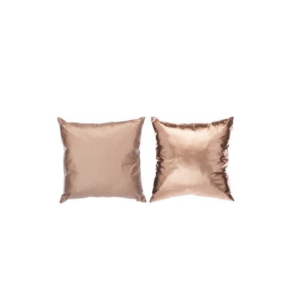 Zestaw 2 poduszek Shiny Rose Gold 40x40 cm