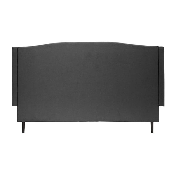 Ciemnoszare łóżko z czarnymi nóżkami Vivonita Windsor, 140x200 cm