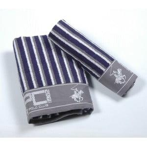 Komplet 2 ręczników BHPC 50x100 + 80x150 cm, granatowy