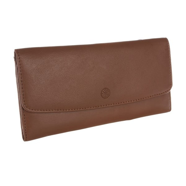 Damski portfel skórzany Imogen Tan Leather Purse