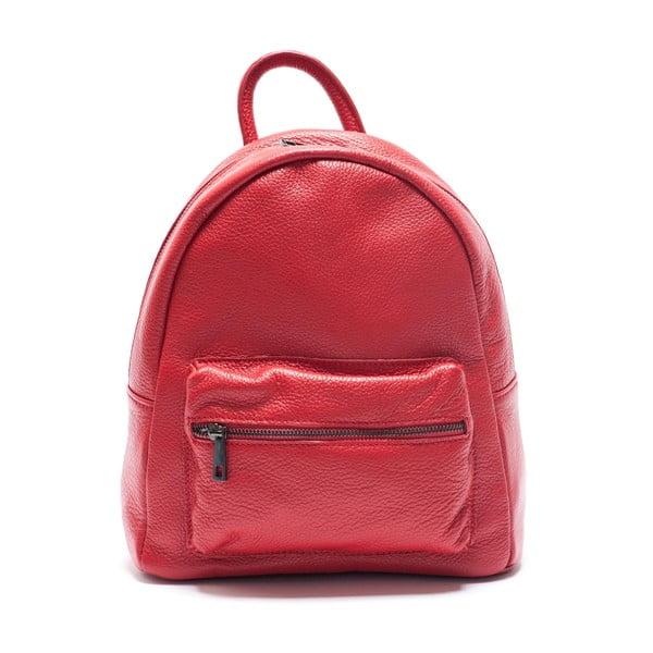 Skórzany plecak Mangotti 1166, czerwony