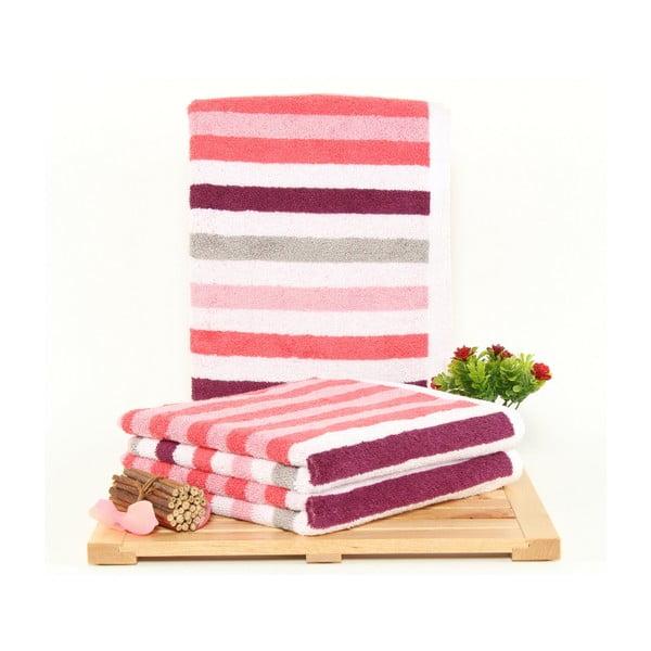 Zestaw 3 ręczników Peggy Melon, 50x100 cm