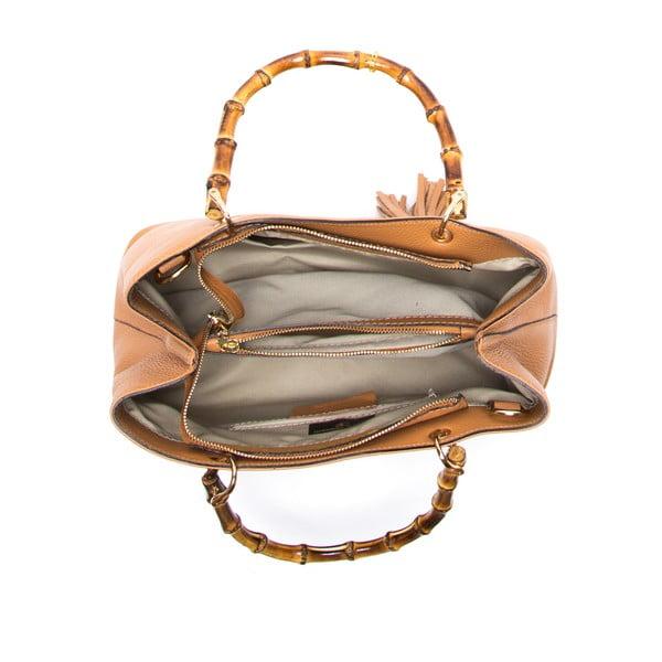 Skórzana torebka Cerla, koniak