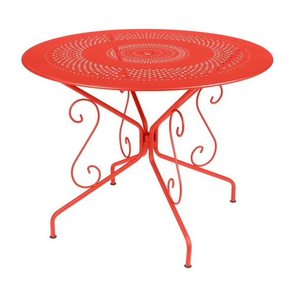 Ceglany stół metalowy Fermob Montmartre, Ø 96 cm