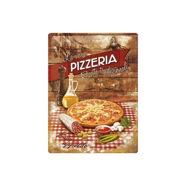 Tabliczka blaszana Pizzeria, 30x40 cm
