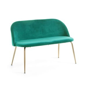 Zielona 2-osobowa ławka La Forma Mystere