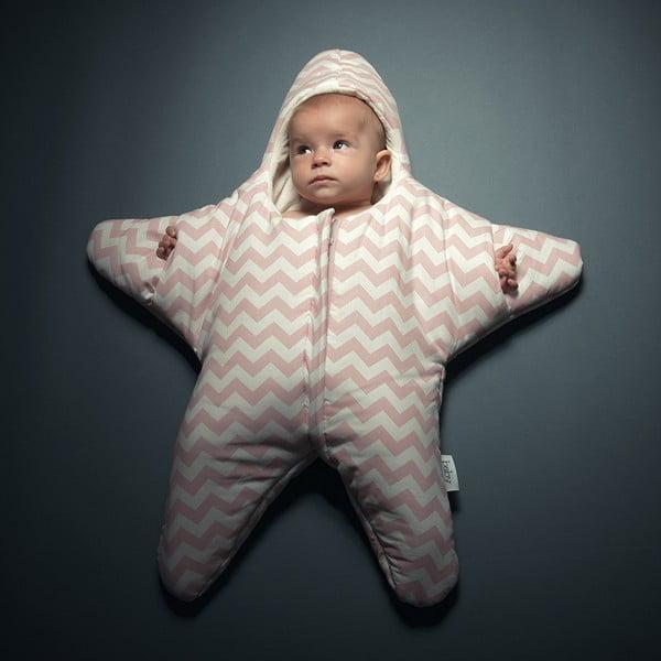 Śpiworek dla dziecka (również na lato) Pink Star, od 4 do 7 miesięcy