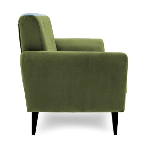 Oliwkowy fotel Vivonita Klara