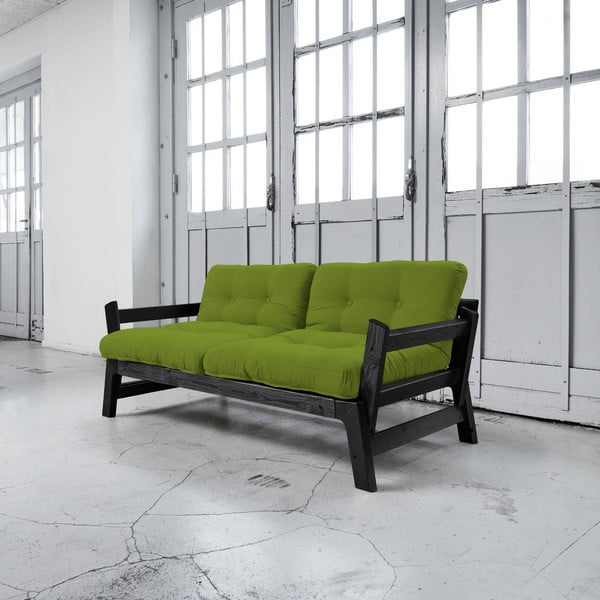 Sofa rozkładana Karup Step Black/Lime
