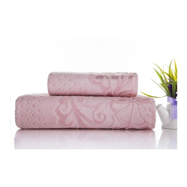Zestaw 2 ręczników Kumsal Powder, 50x90 cm a 70x140 cm