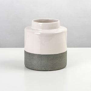 Ceramiczna waza Jungle Krem, wysokość 16 cm