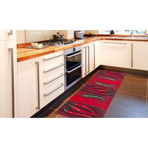 Wytrzymały dywan kuchenny Webtapetti Peperoncini, 60x300 cm