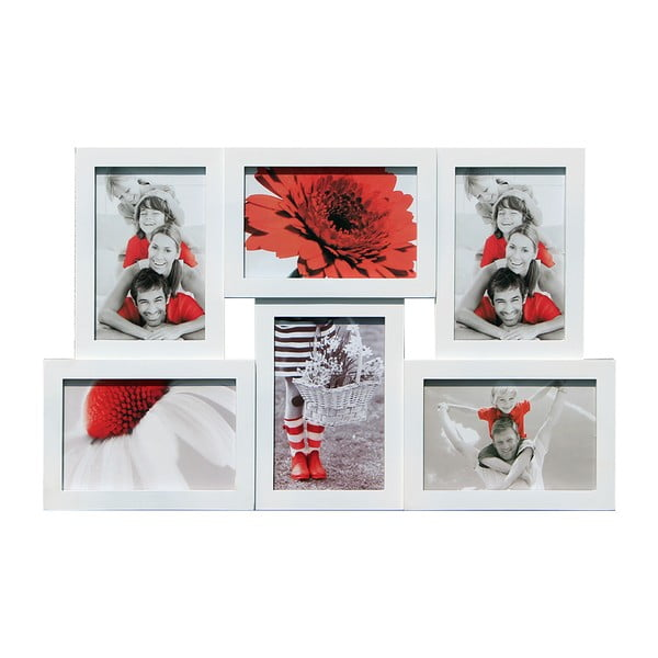 Połączone ramki na 6 zdjęć, białe