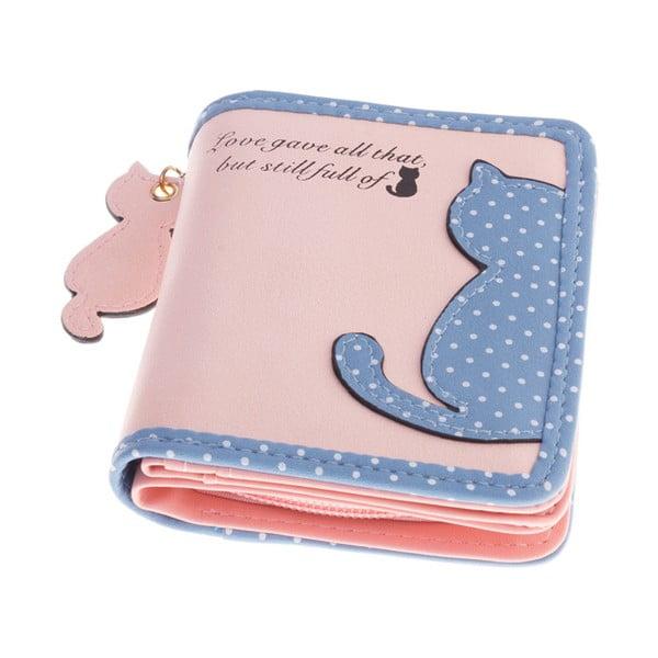 Mały portfel Cat, różowy