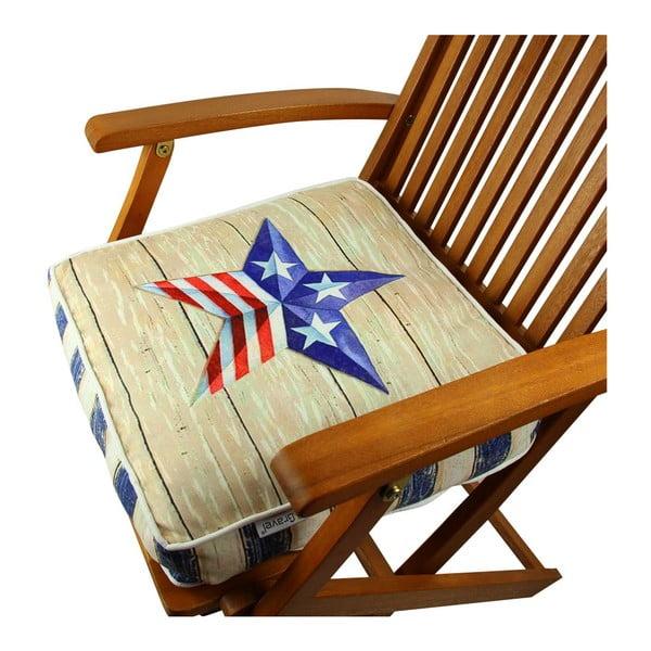Poduszka na krzesło z wypełnieniem Gravel Birken, 42x42 cm