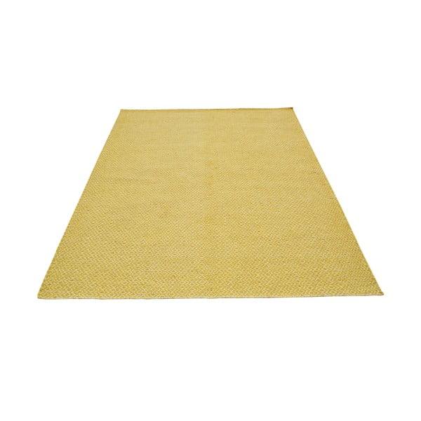Ręcznie tkany dywan Yellow Zigzag Kilim, 160x230 cm